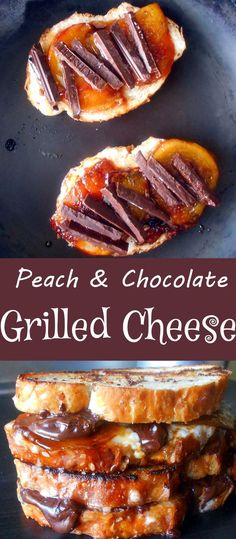 Grilled Cheese Sandwich With Chocolate and Mascarpone. Add peaches for additional flavor