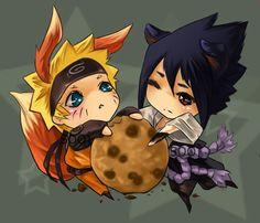 naruto sasuke chibi cookie by sooj.deviantart.com on @deviantART...hehe