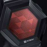 LCD Watch Design with Patterned Digital Display. Time, Date, Alarm, Stop Watch, Animation: Kisai Quasar