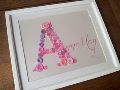 'Name in a Frame' Large - New Baby - Christening - 1st Birthday Gift
