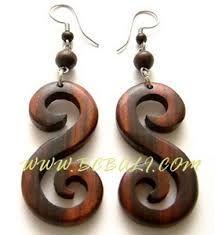 wood earring ile ilgili görsel sonucu