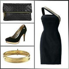 Kleid mit gold