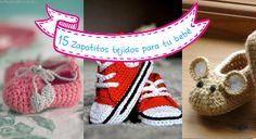 15 zapatitos tejidos para tu bebé