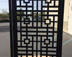 Metal driveway gates and designer gates by DaVinciMetalGate Metal Driveway Gates, Metal Garden Gates, Metal Gates, Metal Railings, Deck Railings, Iron Gates, Railing Ideas, Gate Design, Door Design