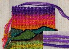 You can learn to weave, and you don& even need to buy a loom! You& learn how to make a loom with things around the house, and create your first weaving project. Tapestry Weaving, Loom Weaving, Hand Weaving, Rug Loom, Inkle Loom, Weaving Art, Weaving Projects, Fun Projects, Weaving Tools