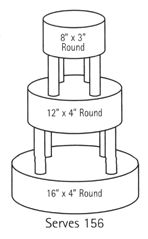 2 tier wedding cake serves how many wilton s cake size reference page how many will 10162