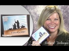 How to create the Sponged Starburst technique featuring Stampin Up's Every Blessing Christmas card - YouTube