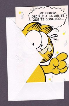 Details About Spanish Friendship Greeting Card Humorous Garfield