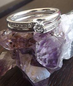 #Solitaire #Ring #WhiteGold 18 Kt & #Diamonds