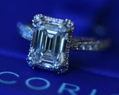 Tacori Emerald Cut Engagement Ring