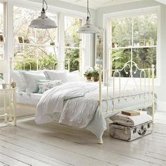 A summer sleeping porch~dreamy