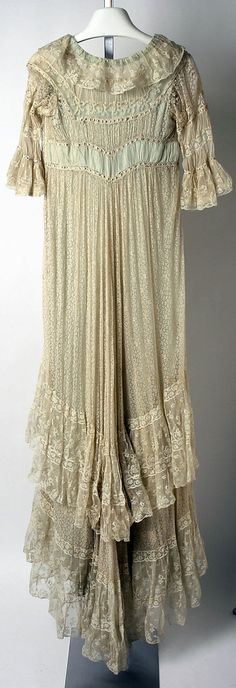 Callot Soeurs  (French, active 1895–1937)  Date: 1906–8 Culture: French Medium: silk, cotton. Back