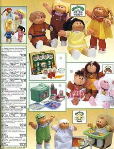 A rare glimpse at the pages of a vintage Argos catalogue proves the department store's brochure was once the definitive way to shop 80s Girl Toys, Toys For Girls, 1980s Childhood, My Childhood Memories, Retro Toys, Vintage Toys, Cabbage Patch Kids Dolls, Cabbage Dolls, Vintage Cabbage Patch Dolls