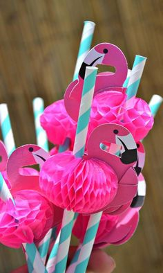 Flamingo Pool Party via Kara's Party Ideas | Kara'sPartyIdeas.com #SummerParty…