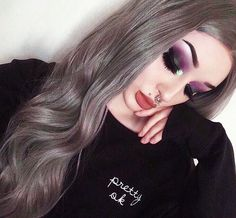 OMG!!!Obessed with this wig rocked by our sweet babe @xdeceiver do you like this Dark Grey Wavy wig? wig sku:edw1042 Use Coupon Code: HALLOWEEN15% Off on your order. http://ift.tt/2diA3LN #wavywig#longhair #hairstyles#lacefrontwig #beauty#frontlacewig #frontlacewigs#halloween#2016halloween#syntheticwigs#synthetic#insta#good