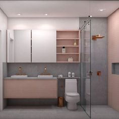 54 Super Ideas For Bath Room Modern Rustic Toilets Large Bathrooms, Dream Bathrooms, Small Bathroom, Bathroom Pink, Bathroom Interior Design, Home Interior, Rustic Toilets, Modern Room, House Rooms