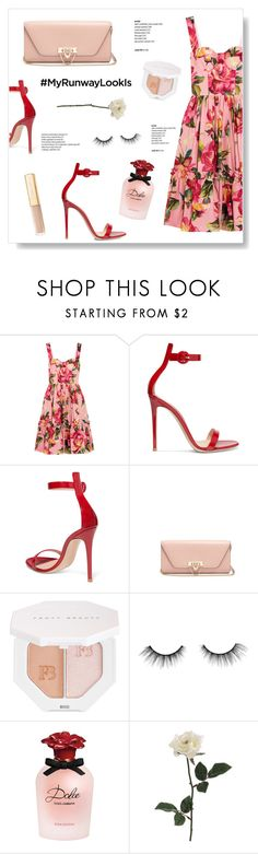 """La regina dei fiori"" by living-on-the-catwalk ❤ liked on Polyvore featuring Dolce&Gabbana, Gianvito Rossi, Valentino, Puma and tarte"