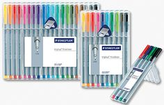 Basically, these pens are the best and worst thing that happened to my purse. I pretty much have every single colour...they don't dry out, they are felt tip, come in bold colours, and satisfy my desire to take notes in garish hues.