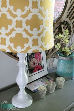 Easy DIY Lamp Makeover with Paint | TheTurquoiseHome.com