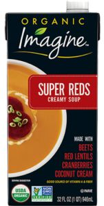 This powerhouse combo of beans, vegetables, and body boosting plants delivers good nutrition in a delicious creamy soup Creamy Soup Recipes, Pureed Food Recipes, Gourmet Recipes, Organic Soup, Beet Chips, Fresh Beets, Beet Soup, Pomegranate Juice, Coconut Cream