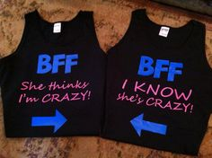 Neon set of 2 BFF best friends shirts by 1OneCraftyMomma on Etsy, $33.00