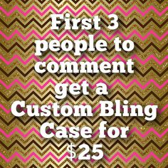 DEAL OF THE DAY: Get a Custom Bling Case for only $25! Any Cellphone Model! My custom cases Reg. Price is $60 so Hurry while this deal lasts! . -FOR ORDERING - Comment Below that you want a Case THEN contact me directly to finalize your case design using ONE of the following methods: . DM Kik: UltimateBling Email: SimplyBlingy@aol.com Text: 850-454-7401 . Please Note most of all full bling designs available  specialty themes or extra personalizations may incur an add on fee contact for…