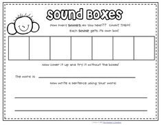 Sound boxes for lower readers during Guided Reading time. Idea from The Teachers' Cauldron