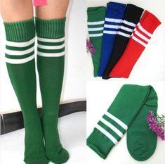 6 couleurs de football dame long tube tube rayé chaussettes de football de crosse de rugby sport chaussettes dans  de  sur Aliexpress.com