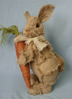 Burlap Bunny ~ reminds me of the velveteen rabbit - a book that should be read every easter, btw