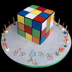 Rubix Cube Cake. I want one!
