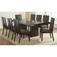 Amia Espresso Dining Set with Alexa Chairs - Overstock™ Shopping - Big Discounts on Dining Sets