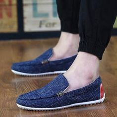 Corea moda de los zapatos de los hombres de los guisantes