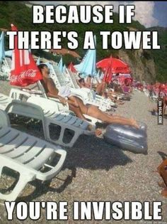 Invisibility towels don't work.
