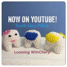 Rainbow Loom Tooth Fairy Pillow - Loomigurumi - Looming WithCheryl