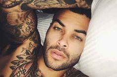 Don Benjamin, a sleepy sexpot. 21 Tattooed Men That Prove Skin Is The Best Canvas Gorgeous Black Men, Beautiful Men, Sexy Tattoos, Tattoos For Guys, Black Men Tattoos, Nice Tattoos, Tatoos, Tatted Men, Mode Man