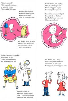 Dr. Seuss style explanation of pregnancy...