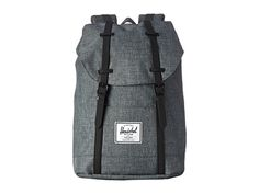 Herschel Supply Co. Retreat Charcoal Crosshatch/Black Rubber - Zappos.com Free Shipping BOTH Ways