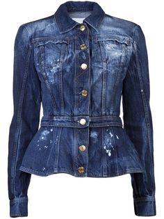 PIERRE BALMAIN Jaqueta Jeans Azul.