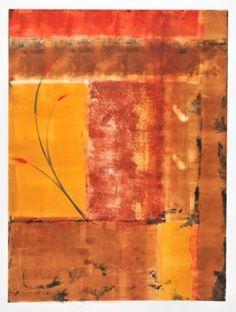 "Saatchi Art Artist Twyla Gettert; Printmaking, ""Renaissance Series- Gold Abstract #4 - Limited Edition 1 of 1"" #art"