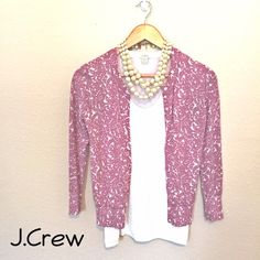 {J.Crew} lavender spring cardigan. Pretty, soft and girly. 100% cotton. In great condition. J. Crew Sweaters Cardigans
