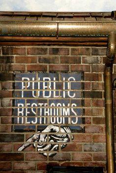 Public Restrooms.