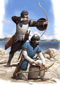 Sicilian Saracen Archers by *wraithdt on deviantART