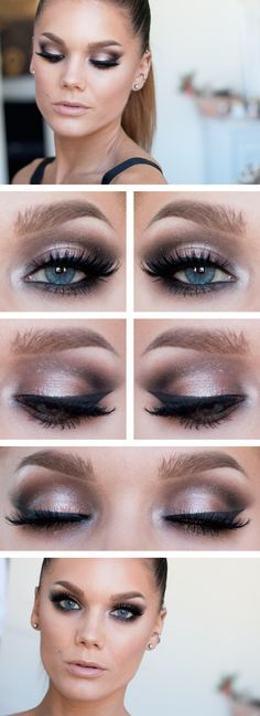 Fri.Sep.13/13,  LINDA HALLBERG : TODAYS (2nd) LOOK - ANTIQUE GOLD.  I've used ... EYES: NYX HD Eyeshadow Base, MUG Eyeshadow Bada Bing, MUG Eyeshadow Corrupt, MUG Eyeshadow Shimma Shimma, MUS Cake eyeliner black, MAC Reflects glitter Antique gold, MUS Eyepencil black, Isadora WigWham mascara, House of lashes Noir fairy.  LIPS: MUS Lipstick Bare, MUS Gloss lips Virgin.  CHEEKS: MUS Wonder powder Sinai, Benefit blush Coralista
