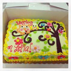 Owl baby shower cake done by my girl Kristie ♡