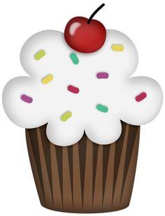Cupcake Drawing, Cupcake Art, Paper Cupcake, Cupcake Pictures, Cupcake Images, Birthday Clipart, Art Birthday, Art Drawings For Kids, Drawing For Kids