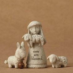Enesco Bless you 4051833 0045544847292 Enesco Bless You Mini Shepherd with Animals Figurine In Christmas Nativity, Look In The Mirror, Just The Way, Garden Sculpture, Blessed, Department 56, Item Number, Mini, Artist