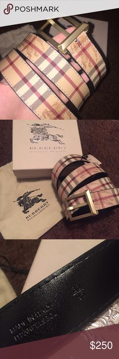NWT Burberry Check Men's Belt Brand new with tags. 100% authentic guaranteed. Made in Italy. Classic Haymarket check. Size 95 Burberry Accessories Belts