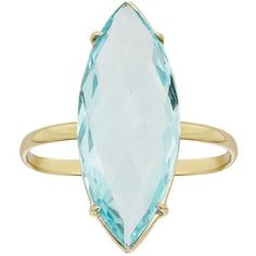 Feminine charm abounds with this alluring sky blue topaz marquise ring. 14k Gold Jewelry, 14k Gold Ring, Blue Topaz Ring, Jewelry Rings, Blue Rings, Yellow Gold Rings, Blue Gold, Blue Yellow, Marquise Cut Diamond Ring