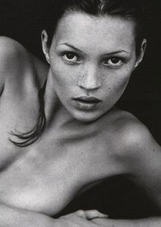 "Kate Moss photographed by Mario Sorrenti for Calvin Klein ""Obssesion"""