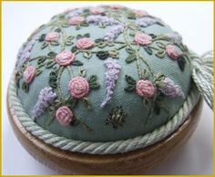 Fancy embroidered pin cushion
